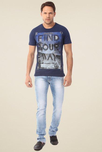 Club Fox Light Blue Low Rise Regular Fit Jeans