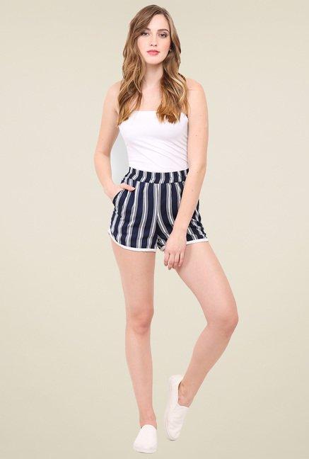 Trend Arrest Blue Striped Shorts