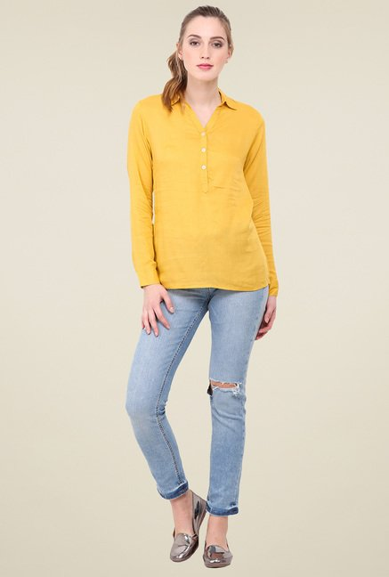 Trend Arrest Yellow Full Sleeves Shirt