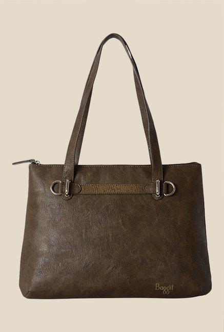 Baggit Bluebell Forestdew Brown Synthetic Solid Shoulder Bag