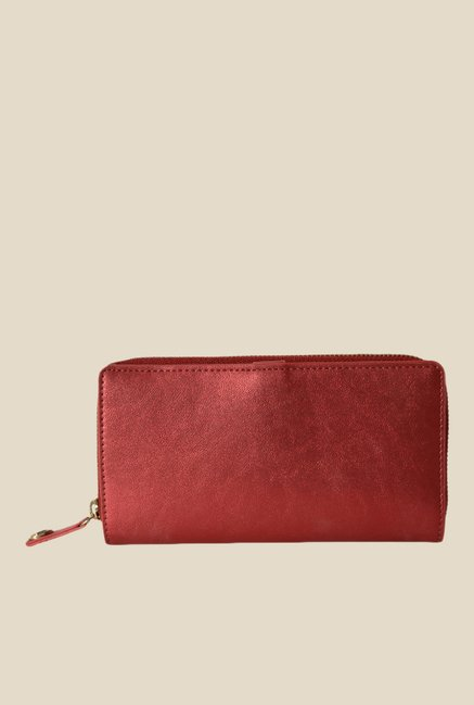 Baggit Fondue Precious Red Nylon Solid Wallet