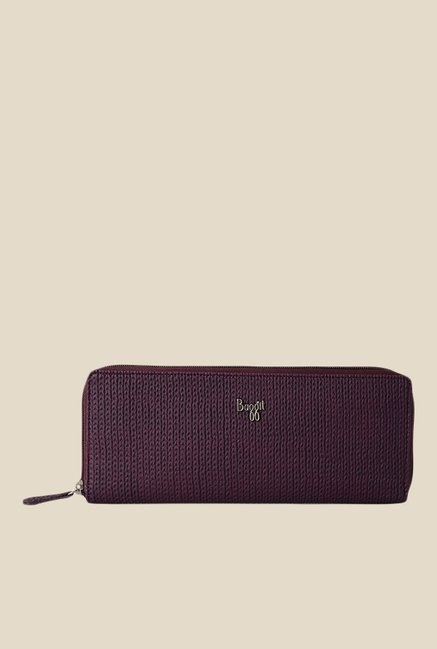 Baggit Legend Jhuti Purple Synthetic Textured Wallet