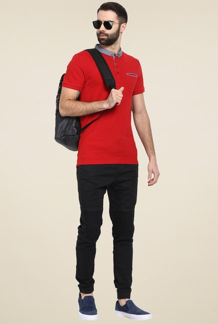 celio* Red Cotton T-Shirt