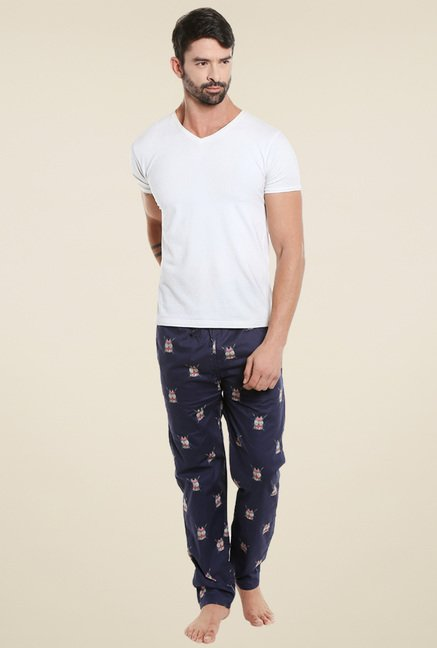 London Bee Navy Mid Rise Pyjama