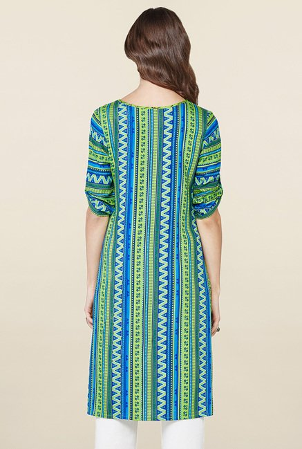 Global Desi Green Printed Kurta