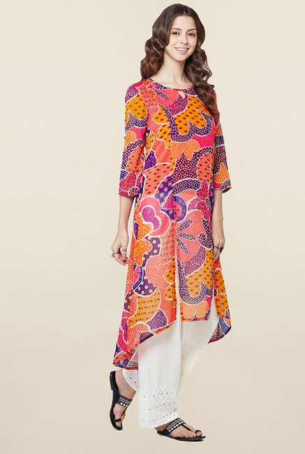 Global Desi Multicolor Printed Kurta