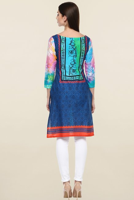 Ahalyaa Multicolor Printed Cotton Kurti