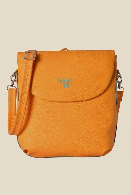 Baggit Blimey Muffin Orange Solid Backpack