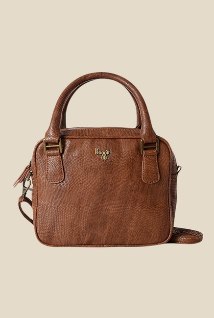 Baggit Sybil Beads Brown Textured Handbag