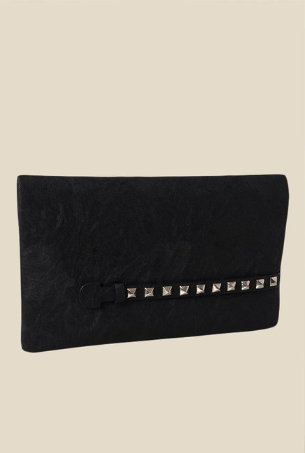 Baggit Brenda Upton Black Textured Clutch
