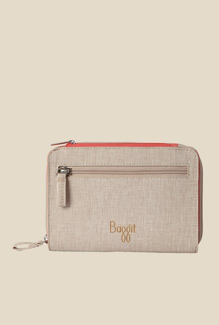 Baggit Koss Charles Beige Solid Pouch