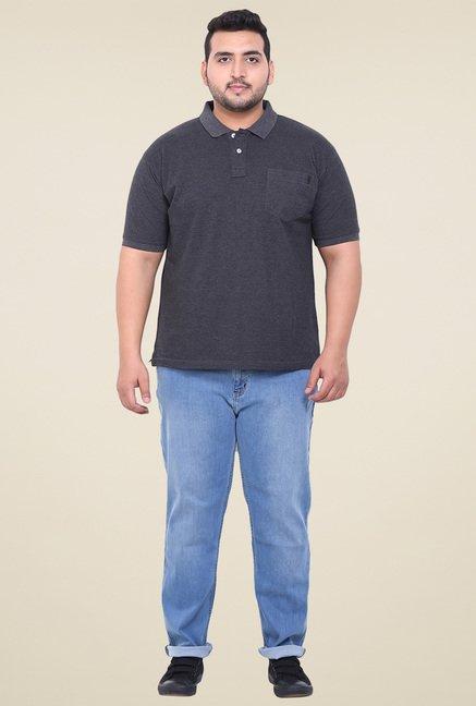 John Pride Grey Regular Fit Polo T-Shirt