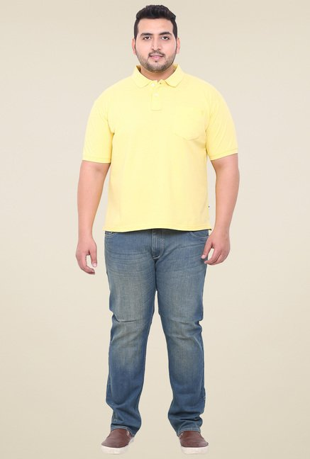 John Pride Yellow Regular Fit Polo T-Shirt