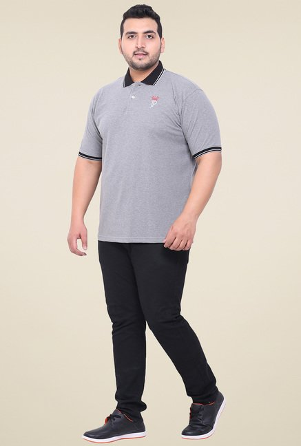 John Pride Grey Regular Fit T-Shirt