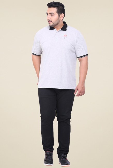 John Pride Grey Half Sleeves Polo T-Shirt