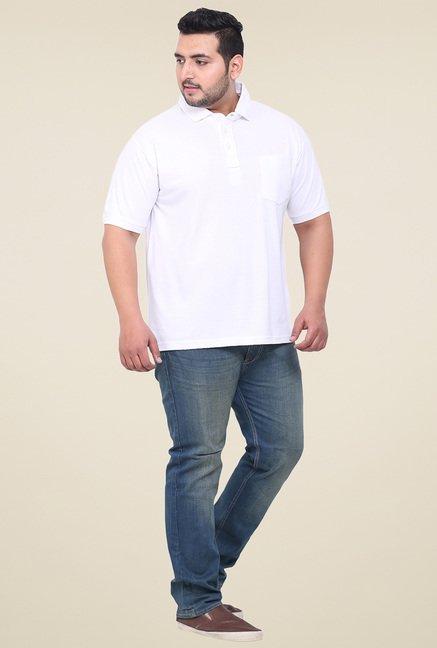 John Pride White Half Sleeves Regular Fit T-Shirt