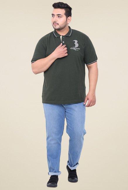 John Pride Green Half Sleeves T-Shirt