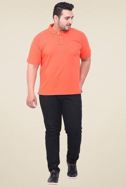 John Pride Orange Half Sleeves Regular Fit T-Shirt