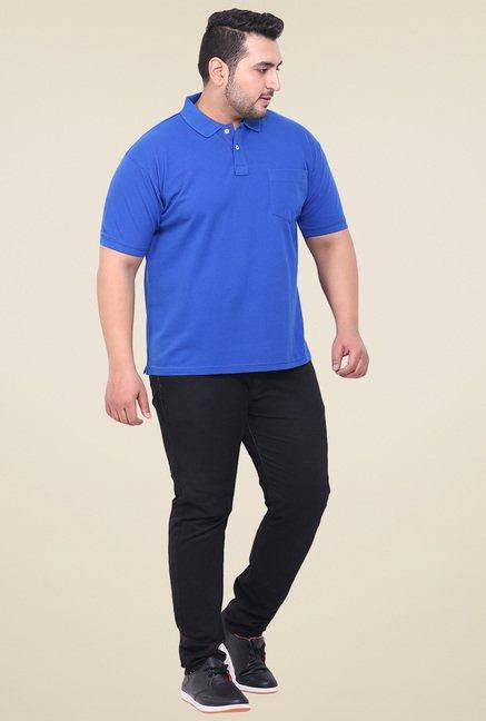 John Pride Blue Regular Fit T-Shirt