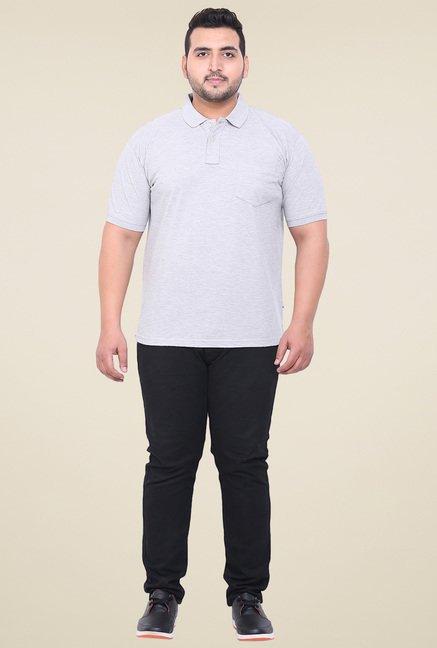 John Pride Grey Regular Fit Cotton T-Shirt