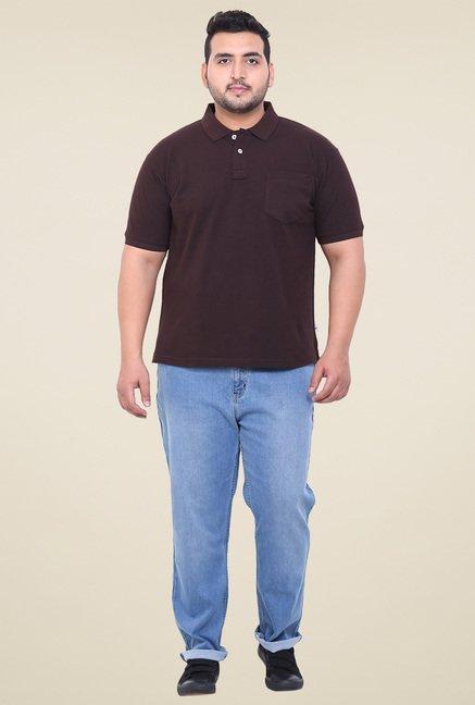 John Pride Brown Cotton Polo T-Shirt