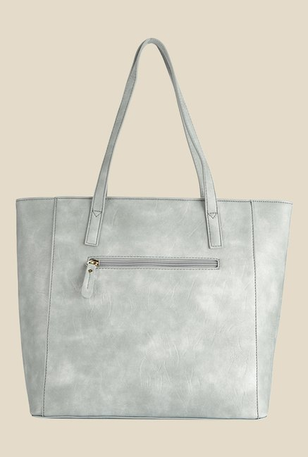 Caprese Misandre Grey Textured Tote Shoulder Bag