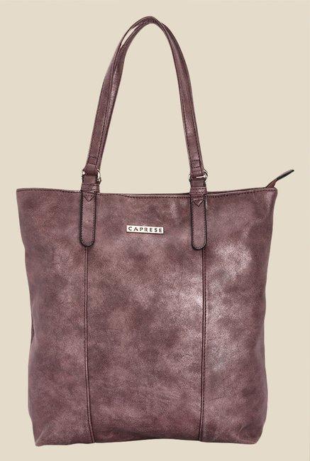 Caprese Prunela Metallic Solid Tote Shoulder Bag