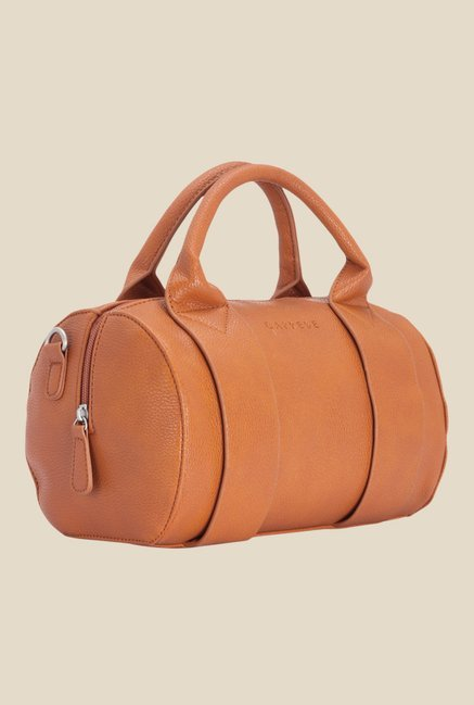 Caprese Teresa Burnt Orange Solid Duffle Handbag
