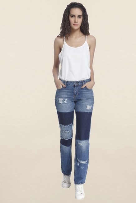 Vero Moda Blue Tattered Jeans