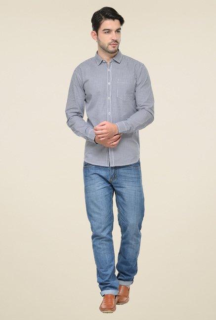Ishwa Black & White Regular Fit Shirt