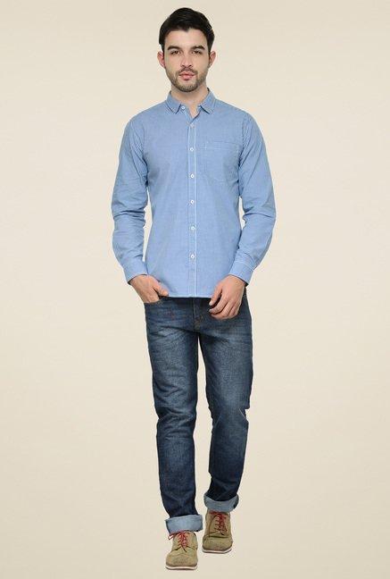 Ishwa Royal Blue Regular Fit Shirt