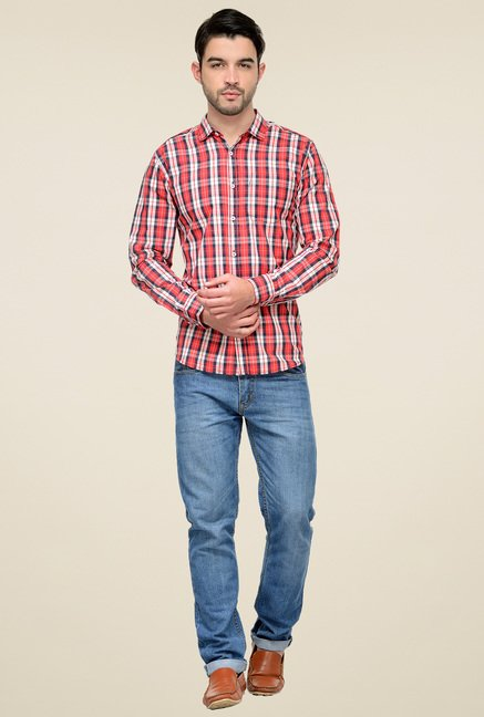 Ishwa Red & White Checkered Shirt