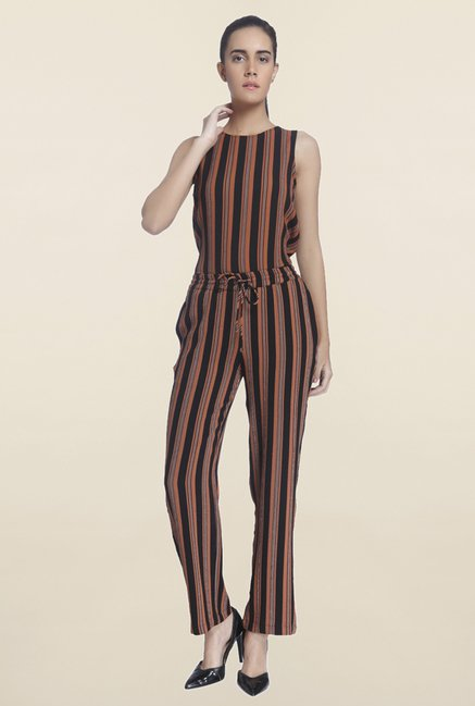 Vero Moda Brown & Black Striped Top
