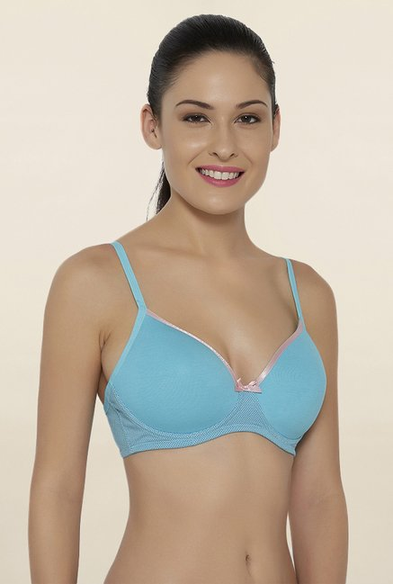 Soie Turquoise Padded Bra