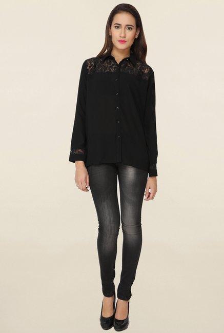 Soie Black Lace Shirt