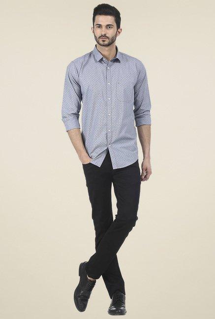 Basics Light Blue Full Sleeves Shirt