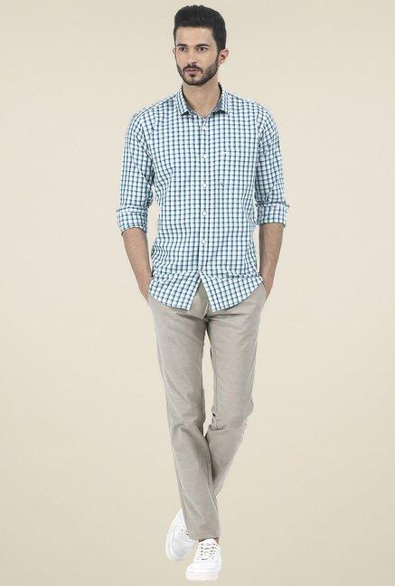 Basics Green Checkered Shirt