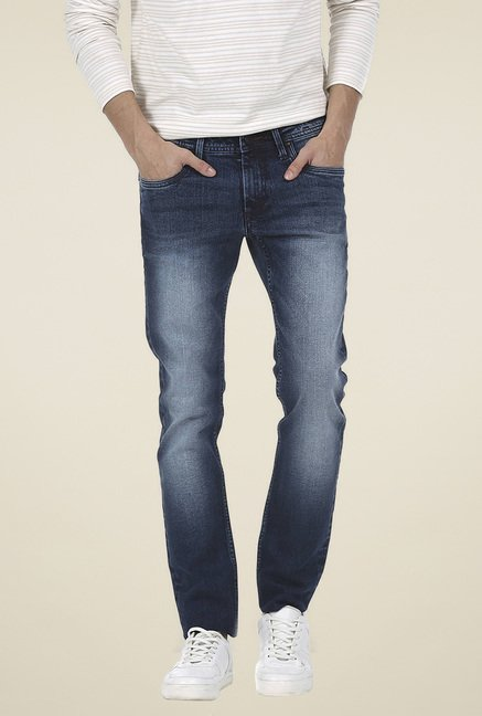 Basics Navy Skinny Fit Low Rise Jeans