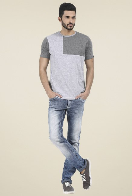 Basics Blue Low Rise Jeans