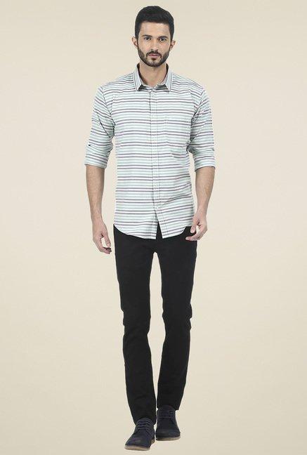 Basics Mint Striped Shirt