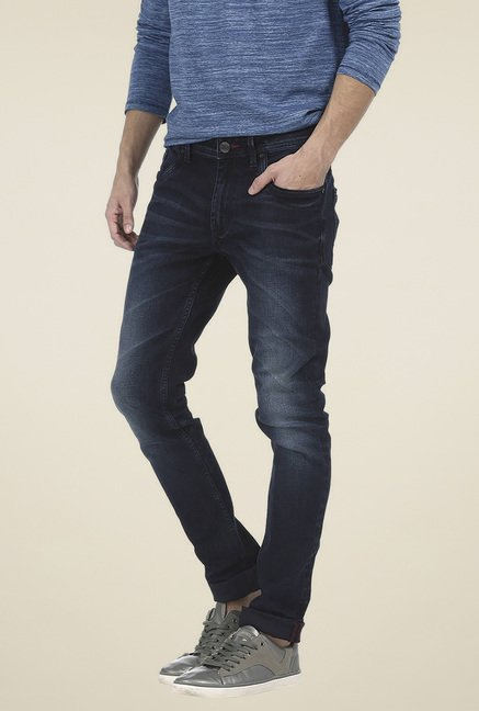Basics Navy Low Rise Jeans