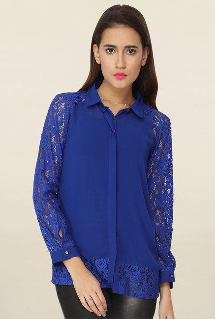 Soie Blue Lace Shirt