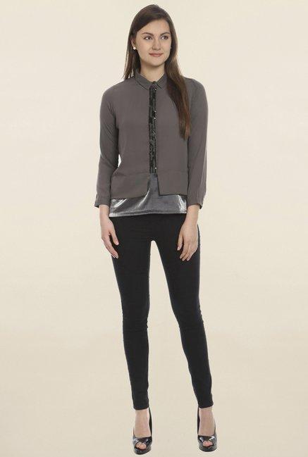 Soie Grey Solid Shirt