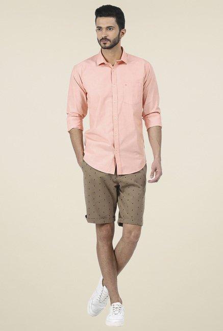 Basics Orange Slim Fit Shirt