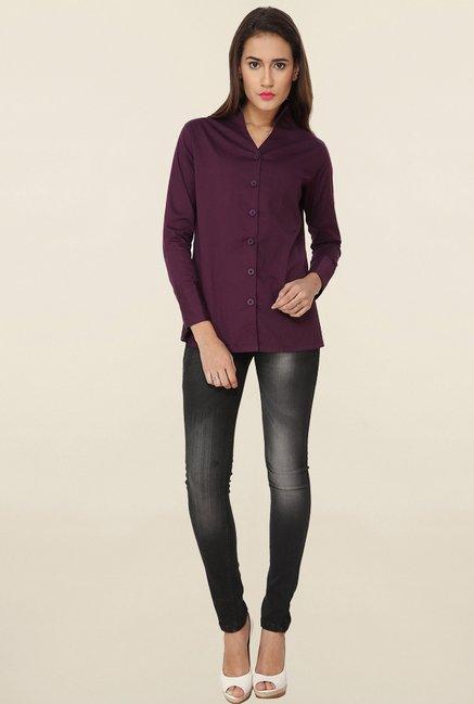 Soie Purple Solid Shirt