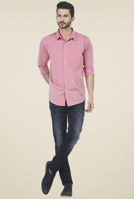 Basics Pink Full Sleeves Shirt