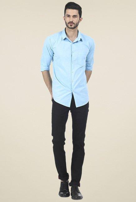 Basics Sky Blue Full Sleeves Shirt