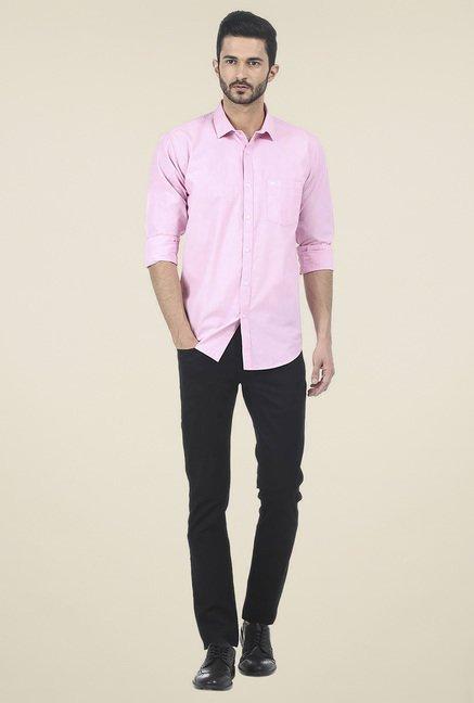 Basics Pink Slim Fit Shirt