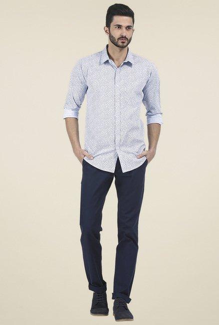 Basics Grey Full Sleeves Slim Fit Shirt