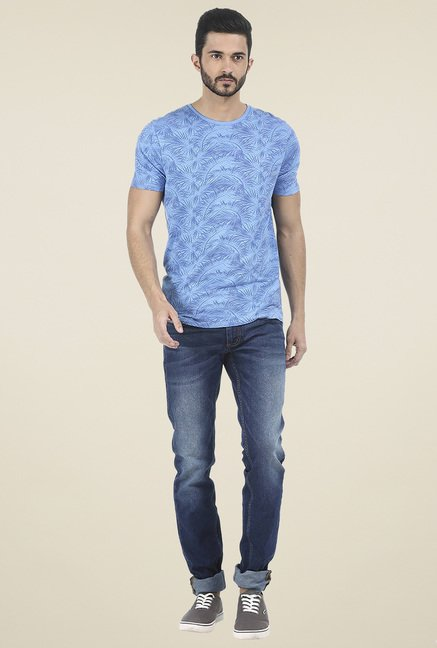 Basics Blue Low Rise Skinny Fit Jeans